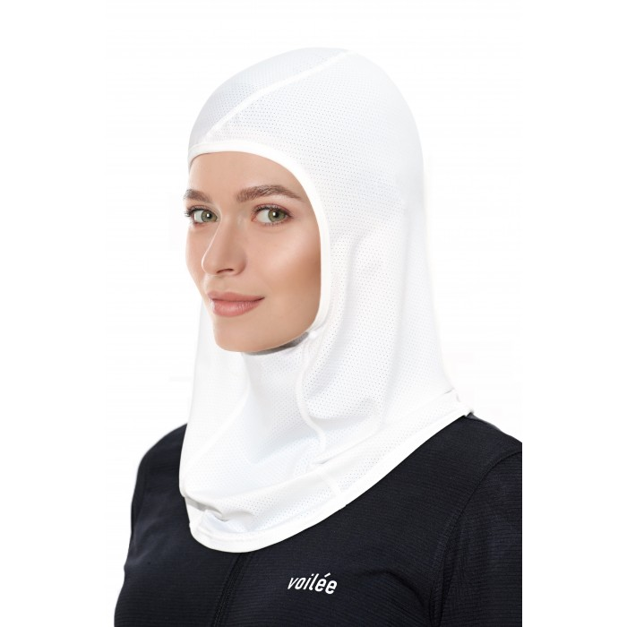 Basic Collection Sports Hijab (White Type B)